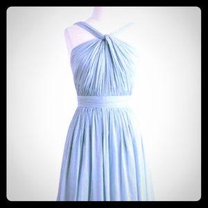 JCrew Short Sage Halter Bridesmaid Dress